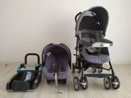 Carrinho Neuvo Chicco com Bebê Conforto e Base de Carro