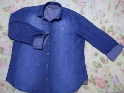 Camisa social jeans Skyler