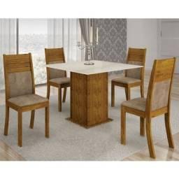 Mesa de Jantar Napoli 90 x 90 Com 4 Cadeiras Animale
