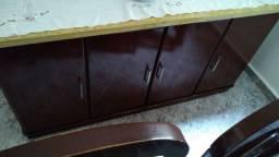Jogo de copa mesa; cadeira e armario