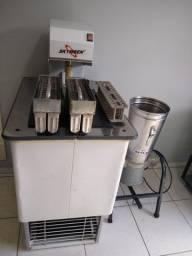 Máquina produtora de sorvete de massa açaí e picolé mais liquidificador