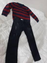 Calça e blusa infantil menino