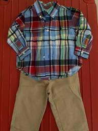 Conjunto calça e camisa da ralph Lauren - tamanho 12 meses