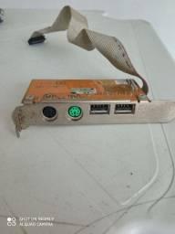placa mouse teclado usb