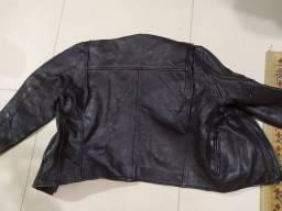Jaqueta de couro puro motoqueiro
