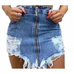 Mini Saia Jeans Blogueira