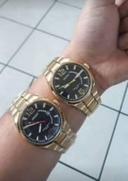Relógio Orient Original Novo Banhado a Ouro Masculino