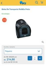 Bolsa de transporte para cães ou gatos ate 10kg padrão aéreo
