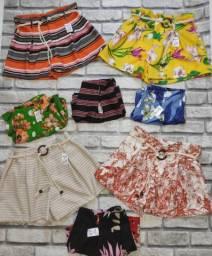 Shorts em bengaline, alfaiataria