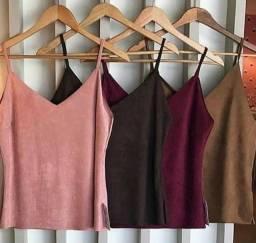 Blusa Feminina Suede Luxo Várias cores