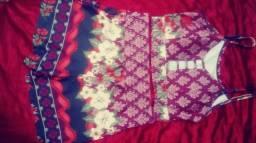 Conjunto de blusa e chorte tamanho M