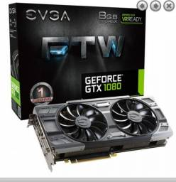 Placa de Video EVGA GeForce GTX 1080 8GB GDDR5X FTW 256-bit, 08G-P4-6286-KR Usada""