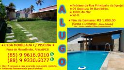 Praia de Majorlandia : Alugo Casa c/ Piscina e Toda Mobiliada em Aracati 85 9 9616 .9010