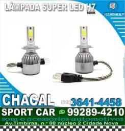Título do anúncio: par de lâmpada para carro Super Led H7 (novos e com nota fiscal)