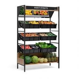 Expositor de frutas fruteira de parede - JM equipamentos