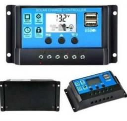 Controlador de carga pwm 30A 12/24 Vcc regulador tensão