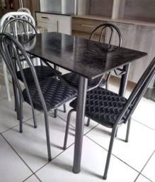 Mesa Cozinha Retangular 4 Cadeiras Nova