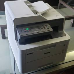 Impressora Brother 3551 DCP-L3551CDW multifuncional laser color seminova