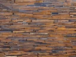 Filete Ponta de Serra Pedra Ferro Basalto Revestimento Natural Parede Promoção DoMeuGosto