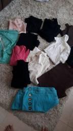 Lote de roupas para brechó