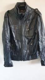 Jaqueta masculina forrada (imita couro)