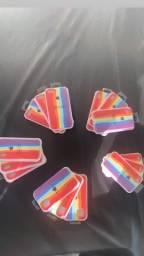 Capinhas de arco íris PIX e no dinheiro tem desconto