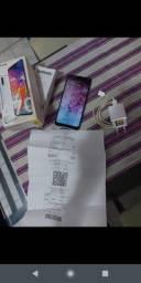 Samsung A70 com caixa e nota