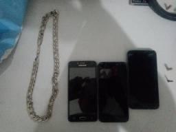 J2 Core J2 prime e um cordão de prata