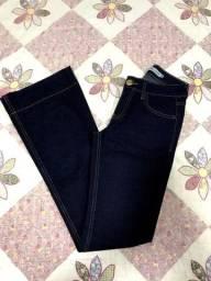 calça jeans flare dicollani denin