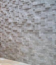 Mosaico de Pedra São Tomé 3D Revestimento Natural Promoção DoMeuGosto