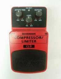 Behringer Compressor Limiter Cl-9 + 2 Cabos + 1 Fonte 9v