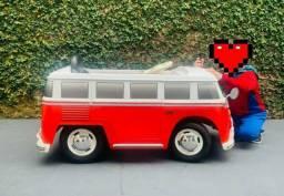 Carro Elétrico Infantil Volkswagen Kombi 12v um Lugar
