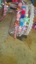 Arquinho tiara pulseira laços