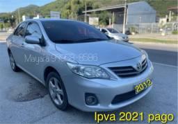 Título do anúncio: Toyota Corolla Aut 2012 novo demais venha conferir