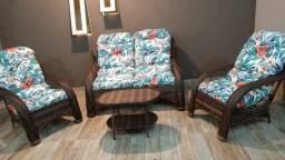 Título do anúncio: Conjunto de sofá descanso em fibra sintética