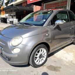 FIAT 500 LOUNGE COM TETO SOLAR, ACEITO TROCAS E FINANCIO