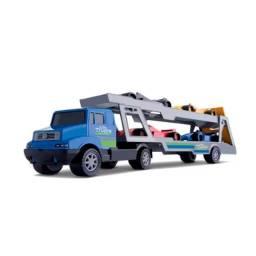 Coleção cegonheira mini truck samba toys 40cm 4 carros