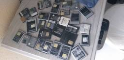 Diversas baterias de celular