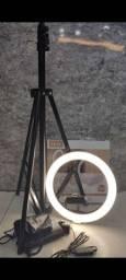 Ring Light Led Iluminador 26cm Completo 2,1m Tripé 210cm