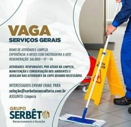 Vaga de serviços Gerais - Homem
