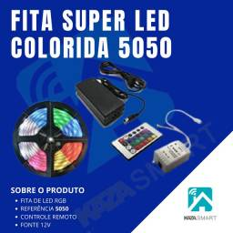 FITA DE LED RGB 5050 PROFISSIONAL COLORIDA SANCA E AUTOMOTIVO
