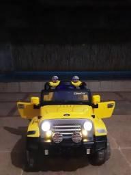 Carro Elétrico Infantil Jipe Trilha 12V Amarelo