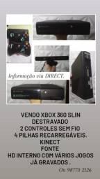 Vendo Xbox 360 slim destravado, semi novo muito conservado. Pra vender rápido.