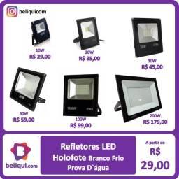 Título do anúncio: Refletores LED Holofotes Prova D'àgua IP66 | Branco Frio | Várias Potências