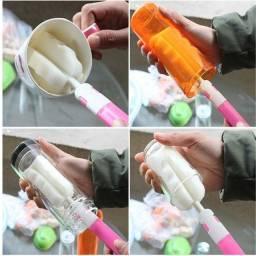 Escova multi uso lava taças copos mamadeiras garrafas