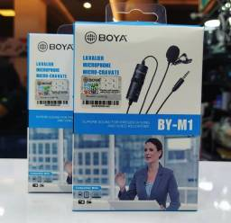 Microfone de Lapela Boya BY-M1 Omnidirecional - Preto