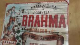 Quadro de metal/ Cerveja  Brahma.40 x30 x2 cm