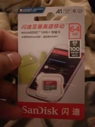 Cartão MICRO SD 64gb classe 10 ORIGINAL SANDISK