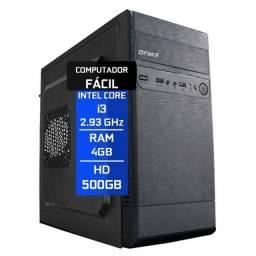 Computador Fácil Intel Core i3 4GB HD 500GB