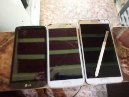 3 celulares com defeito na tela por 60$